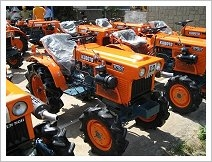 One of our used tractor stockyards